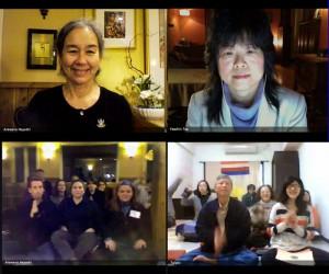 阿闍黎Arawana Hayashi與中文口譯,以及紐約天湖、台北香巴拉人一起上課