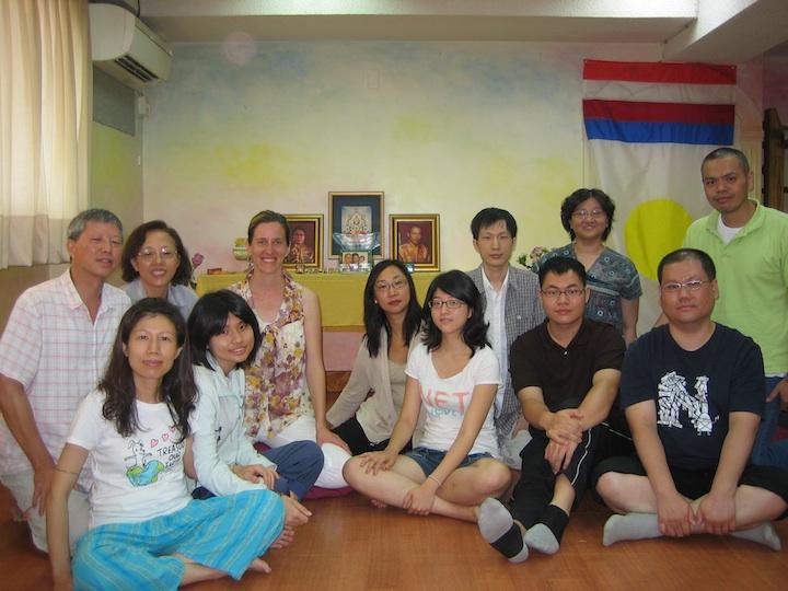 2011年學士教師Holly Gayley在台北教導香巴拉學員