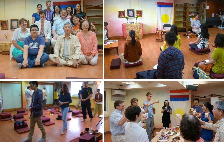 2014年秋季於台北舉辦的香巴拉訓練第一、第四階,指導老師 Klaus-Peter Eltz and Anne Eltz.